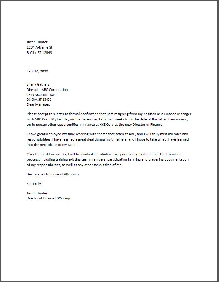 Resign From A Job Letter from www.resumebuilder.com