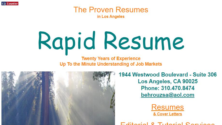 Rapid Resume Homepage