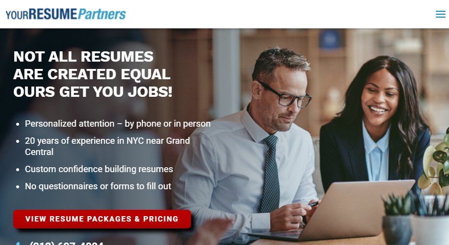 Your Resume Partner Homepage
